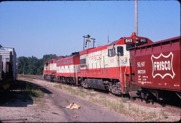 U30B 849 at Paola, Kansas in July 1974