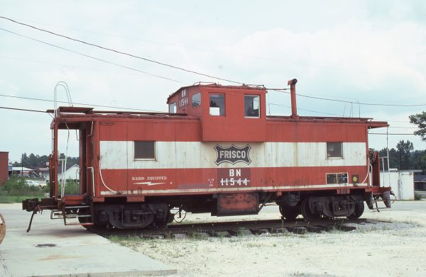 Caboose 11544 (Frisco 1215) (location unknown) on August 3, 1985 (Kermit Geary Jr.)