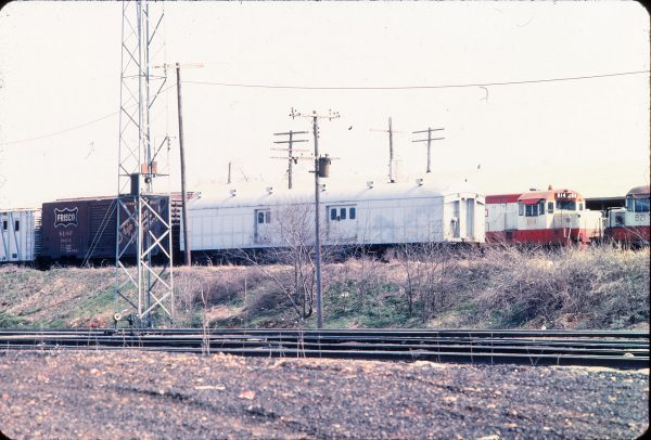 Boxcar 18231 and U25B 814 with a Work Car in April 1975