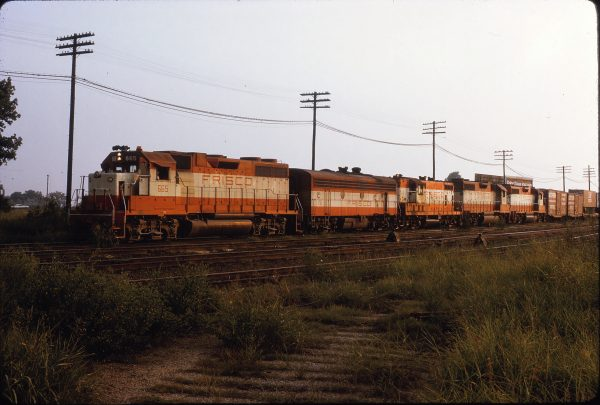 GP38-2 665, F9B 151, GP7 562 and GP38AC 653 (location unknown) circa September 1973