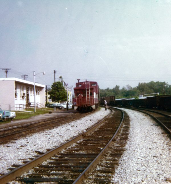 Caboose 1229 at Thayer, Missouri on June 12, 1978 (R.R. Taylor)