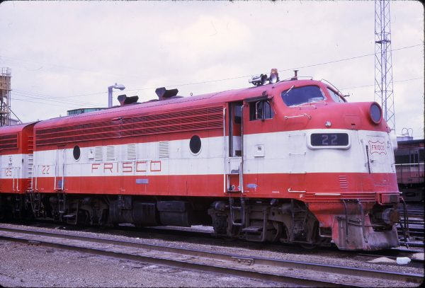 F7A 22 (ex-5022) at Springfield, Missouri on June 14, 1973 (J.B. Gwinn)