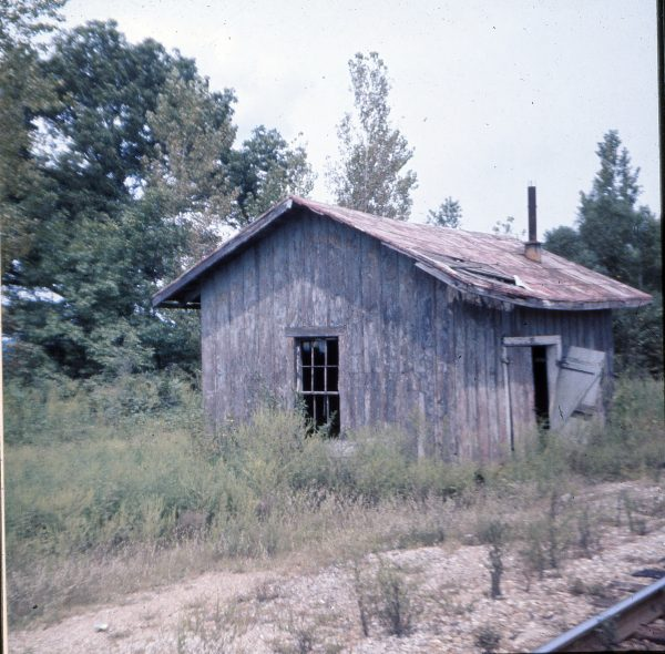 Maintenance Of Way Shed at Wittenberg, Missouri in September 1970 (Ken McElreath)