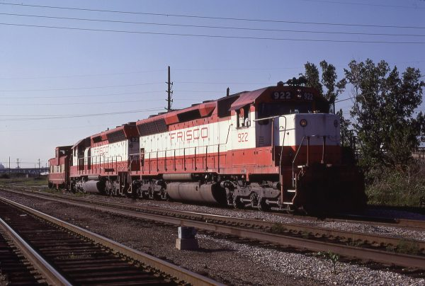 SD45s 922 and 934 and Caboose 1710 at Kansas City, Missouri on June 24, 1980