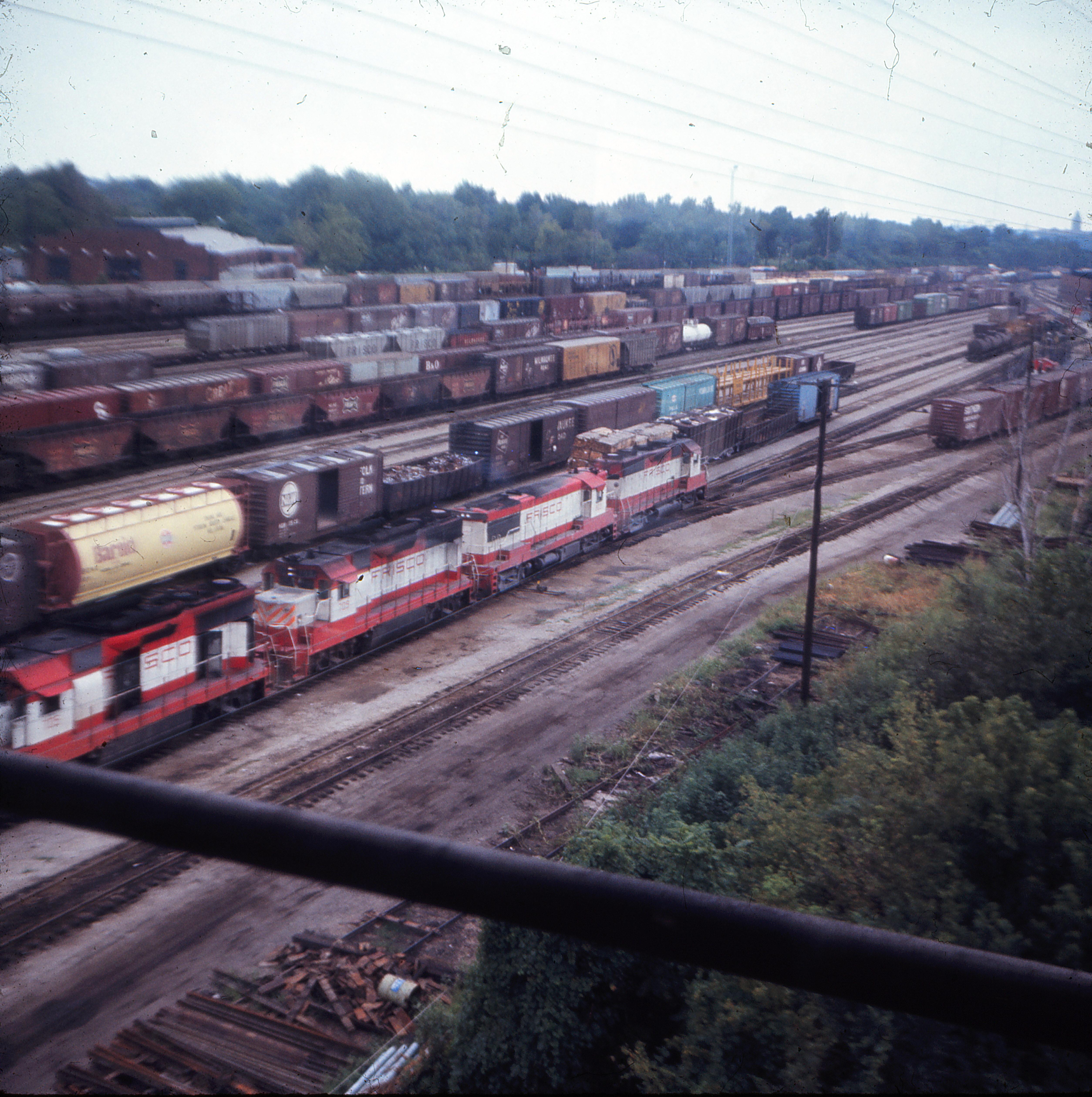 Lindenwood Yard, St. Louis, Missouri in August 1970 (Ken McElreath)