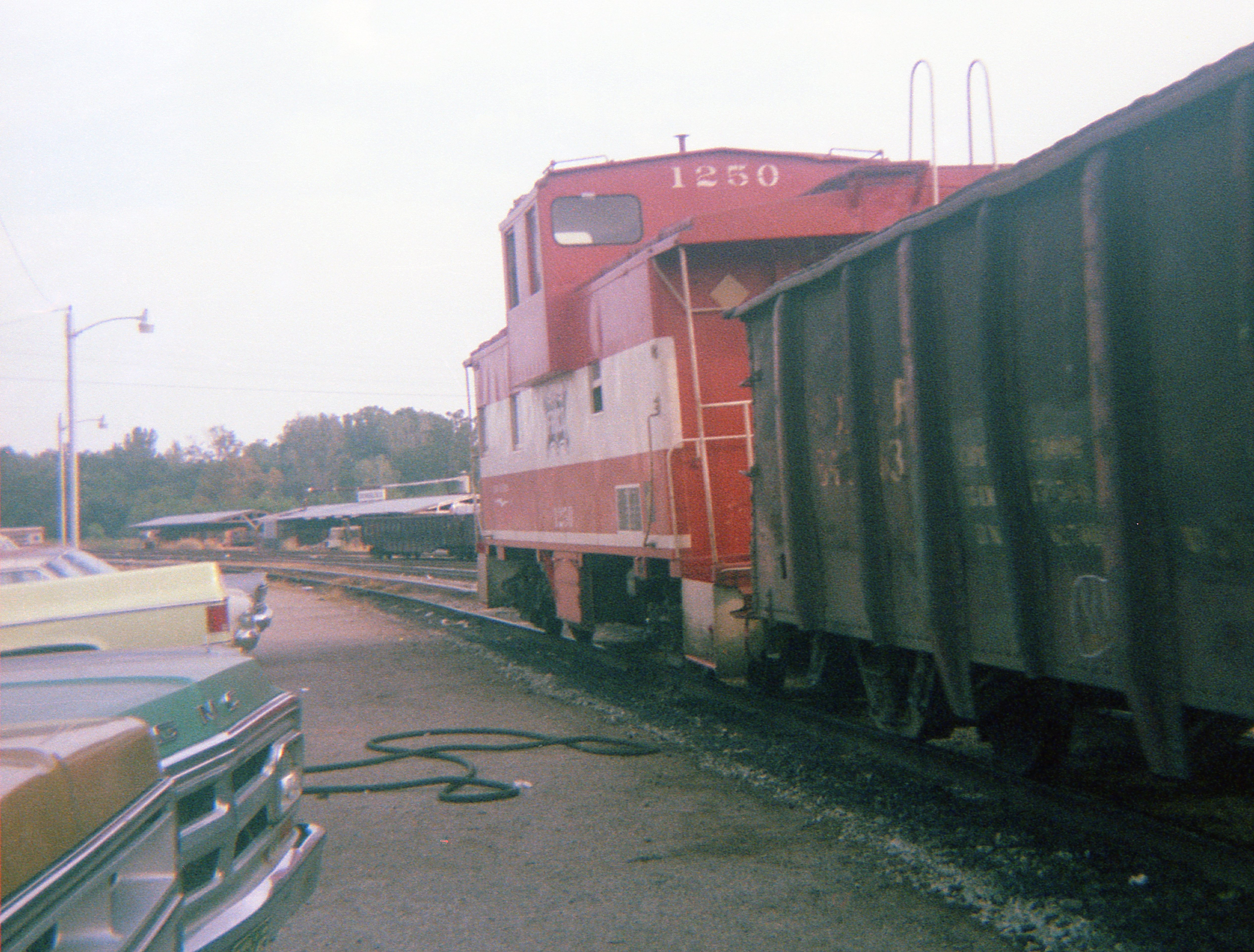 Caboose 1250 at Thayer, Missouri on August 19, 1978 (R.R. Taylor)