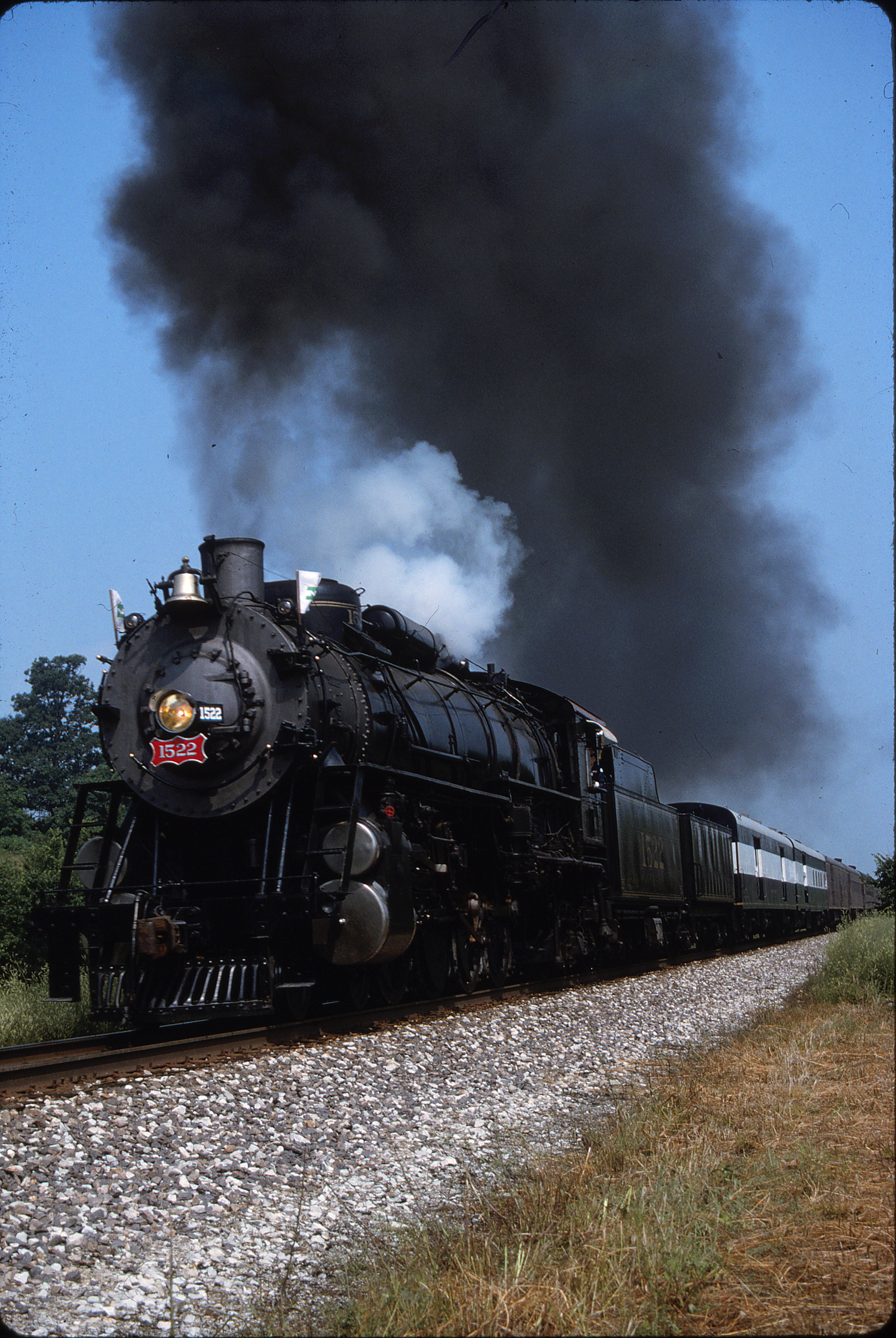 4-8-2 1522 at Sargent, Missouri on June 19, 1994 (Phil Gosney)